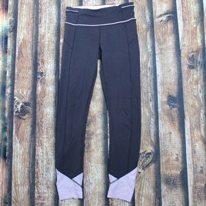 Lululemon Black Pink Leggings Size 2